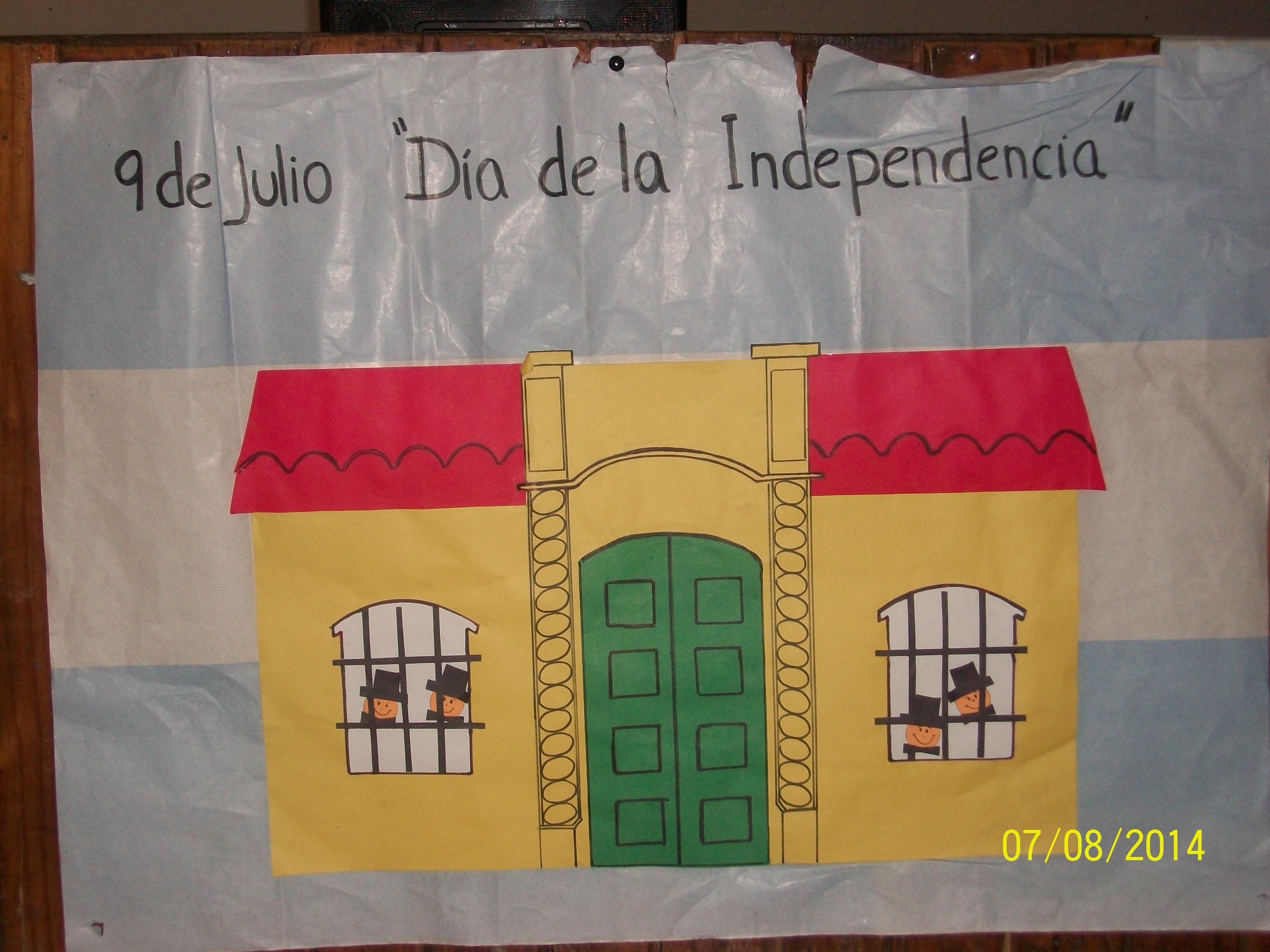 Por la independencia de los pueblos escuela primaria for Decoracion 9 de julio secundaria